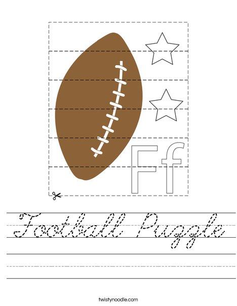 Football Puzzle Worksheet