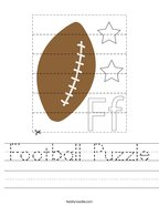 Football Puzzle Handwriting Sheet