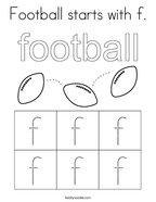 Football starts with f Coloring Page