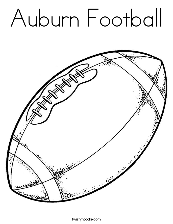 Auburn Football Coloring Page