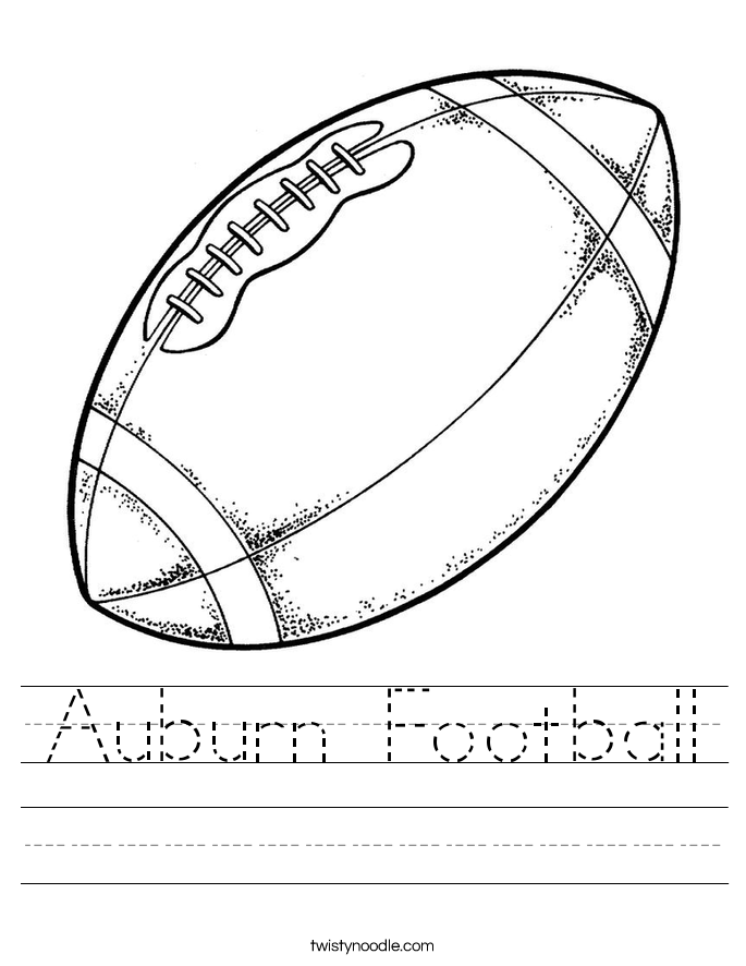 Auburn Football Worksheet
