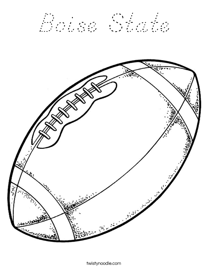 Boise State Coloring Page