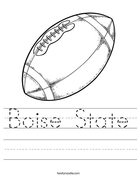 Boise state worksheet twisty noodle Denver Broncos Super Bowl Coloring Pages Printable Flag of Idaho Denver Broncos Football Coloring Pages