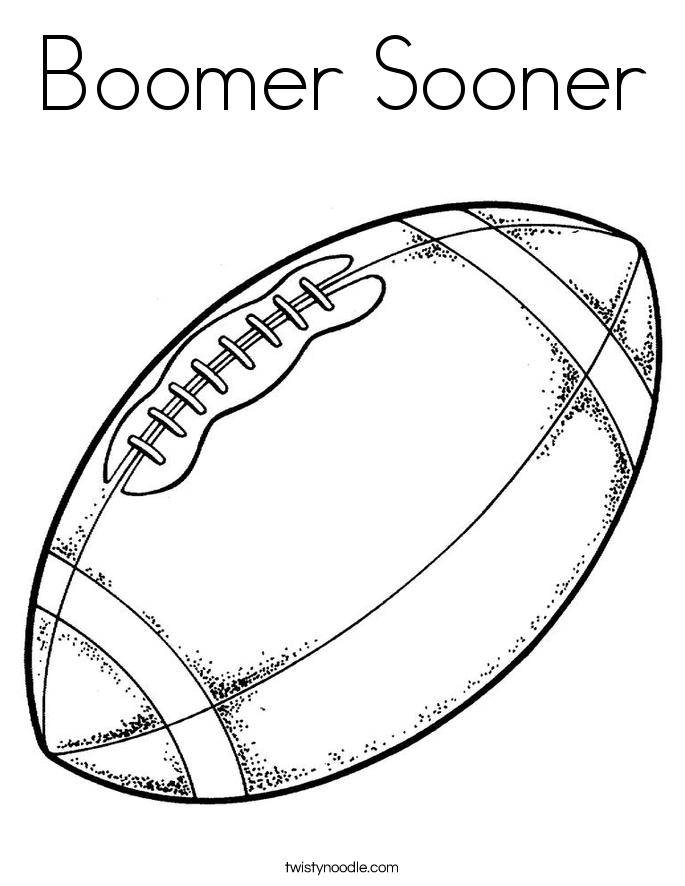 Boomer Sooner Coloring Page