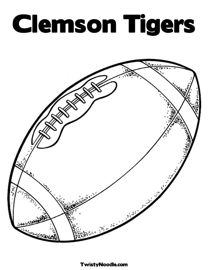 clemson football logo coloring pages - photo#4