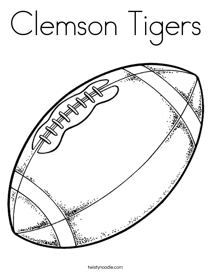 Clemson Tigers Coloring Page