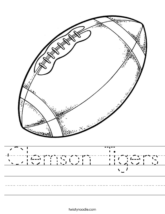 Clemson Tigers Worksheet