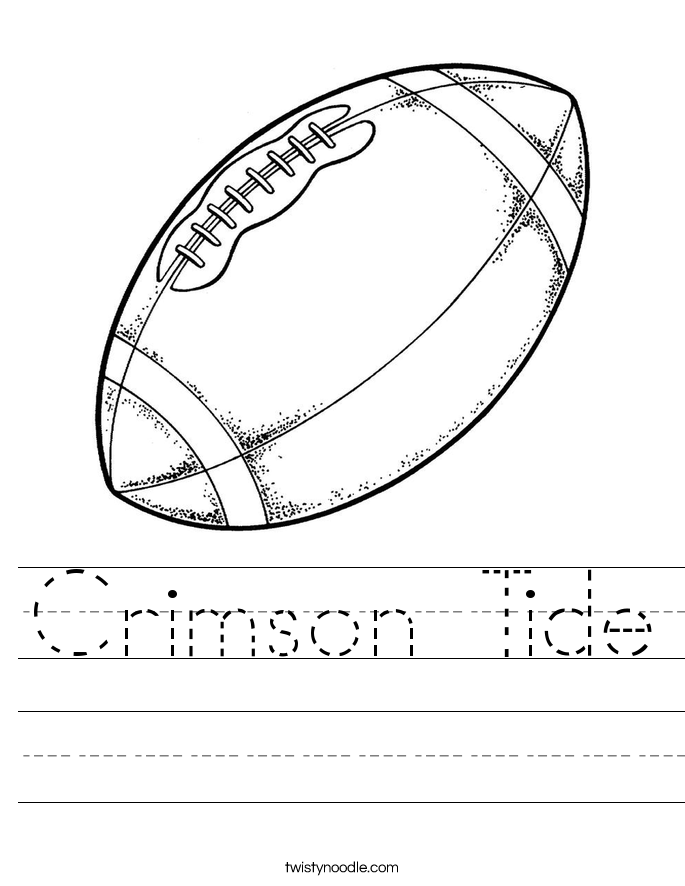 Crimson Tide Worksheet
