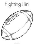 Fighting Illini Coloring Page