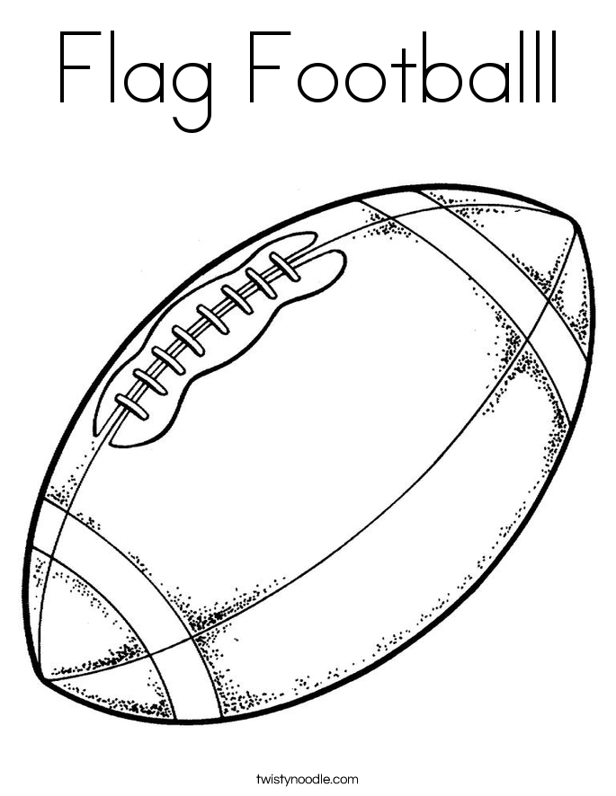 Flag Footballl Coloring Page