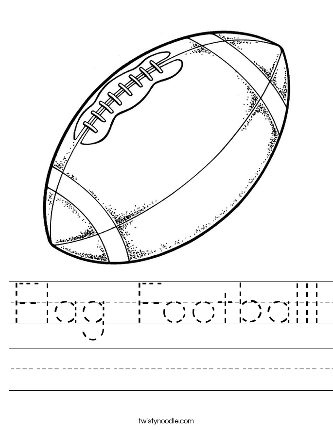 Flag Footballl Worksheet