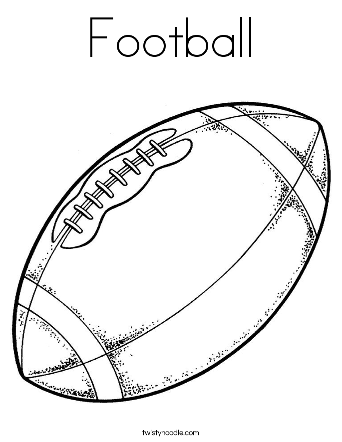Football Coloring Page Twisty Noodle