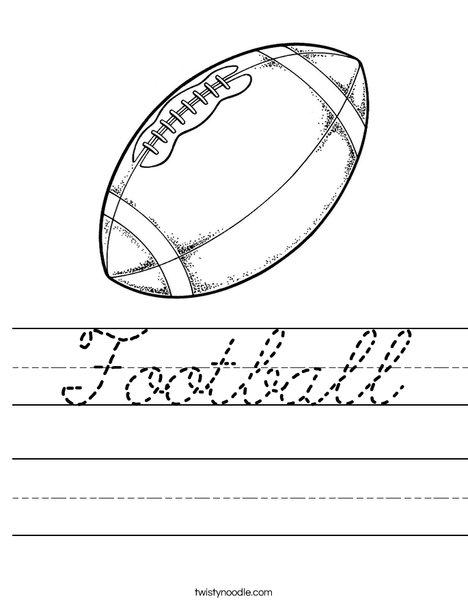 Football Worksheet