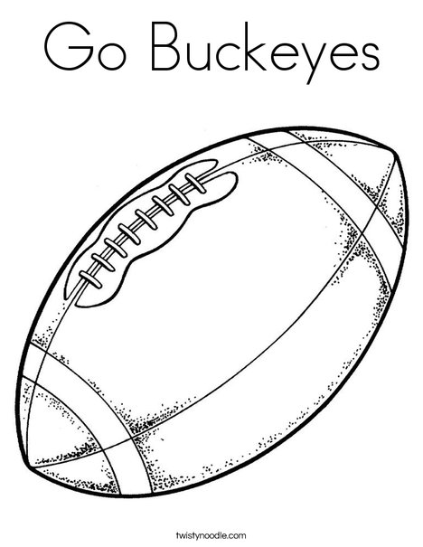 Go Buckeyes Coloring Page Twisty Noodle