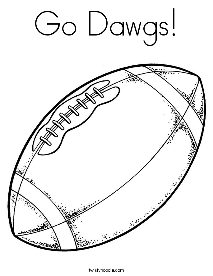 Go Dawgs! Coloring Page