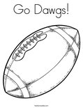 Go Dawgs!Coloring Page
