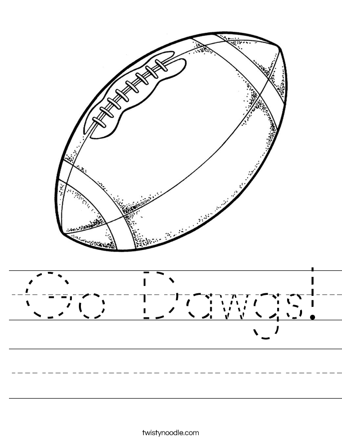 Go Dawgs! Worksheet