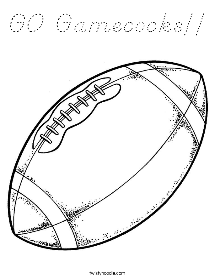 GO Gamecocks!! Coloring Page