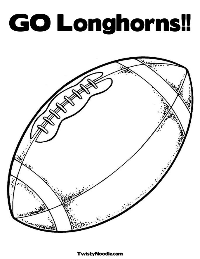 Texas Football Coloring Pages Longhorns Coloring Pages