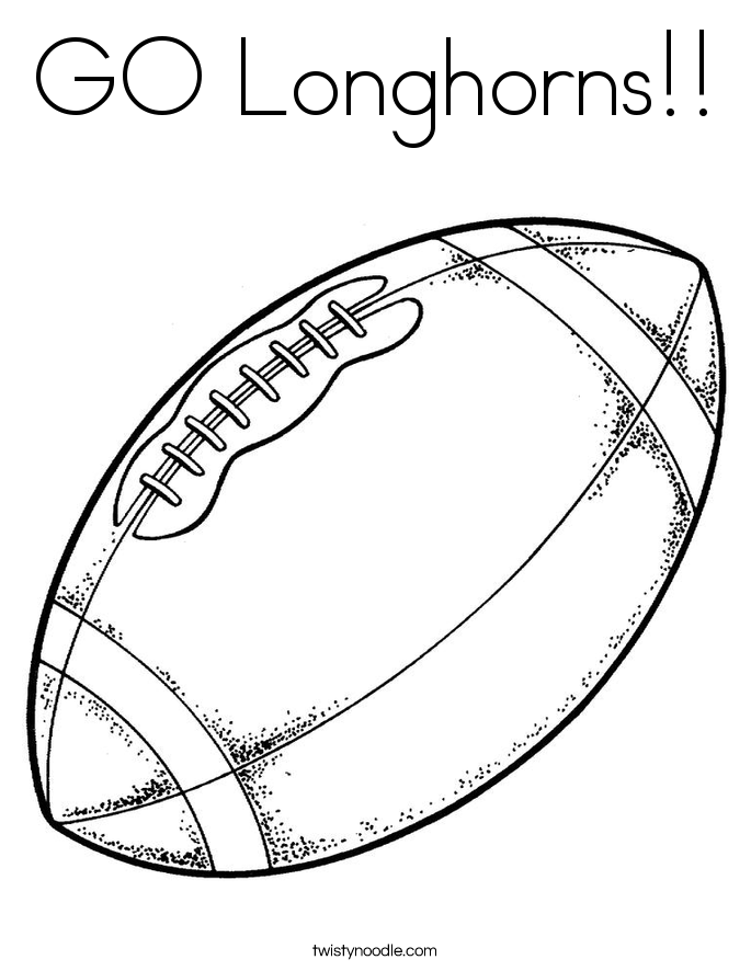 GO Longhorns!! Coloring Page