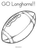 GO Longhorns!!Coloring Page