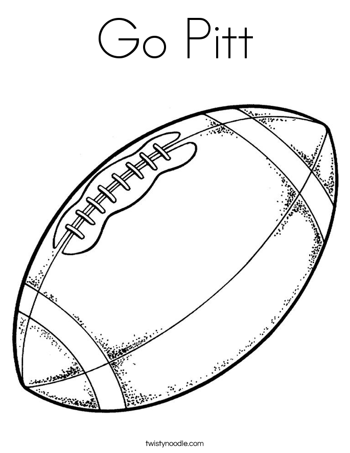Go Pitt Coloring Page