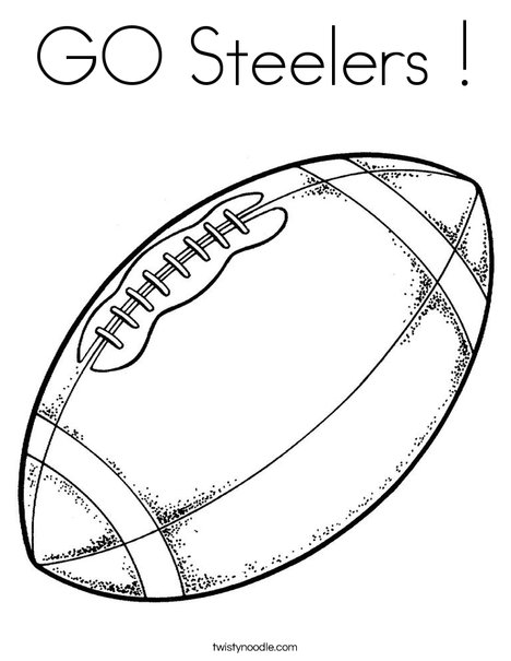 football coloring page - Steelers Coloring Pages
