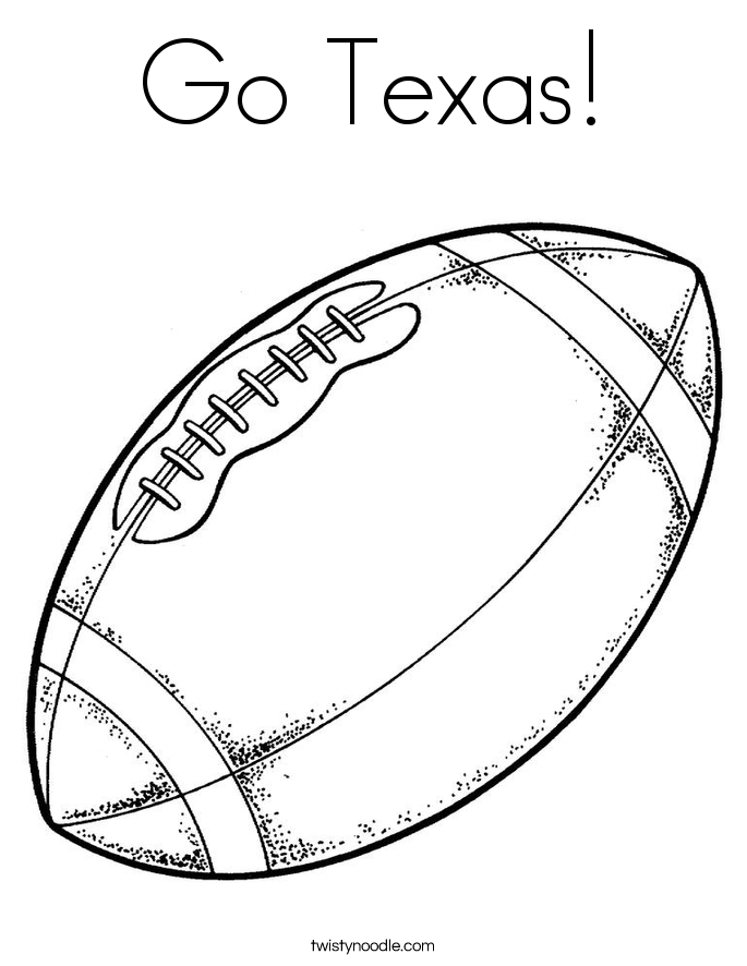 Go Texas! Coloring Page