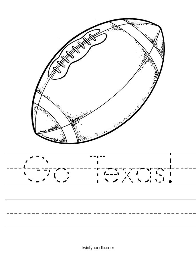 Go Texas! Worksheet
