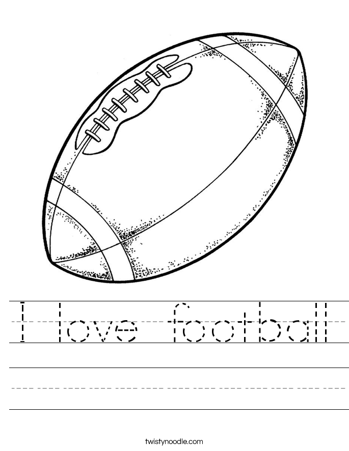 I love football Worksheet
