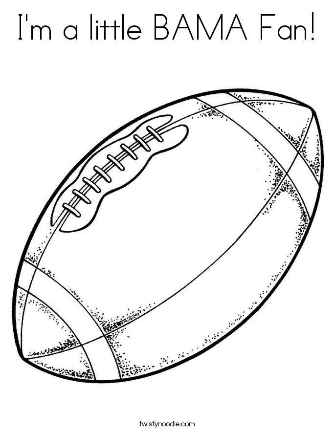 I'm a little BAMA Fan! Coloring Page