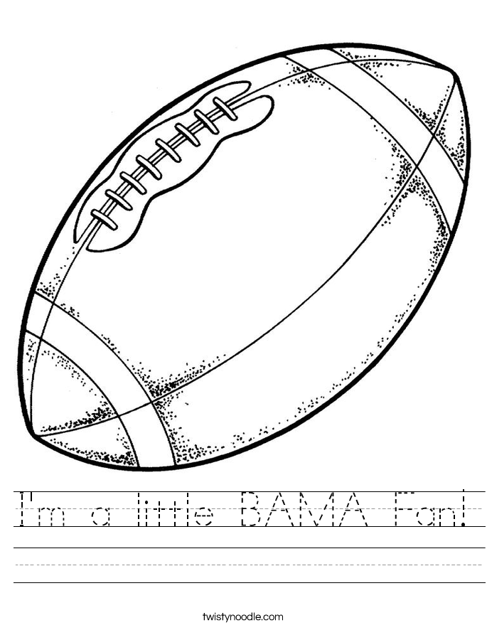 I'm a little BAMA Fan! Worksheet