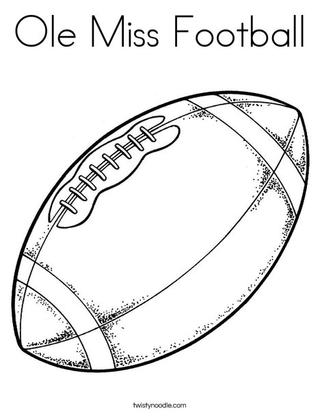 Ole Miss Football Coloring Page - Twisty Noodle