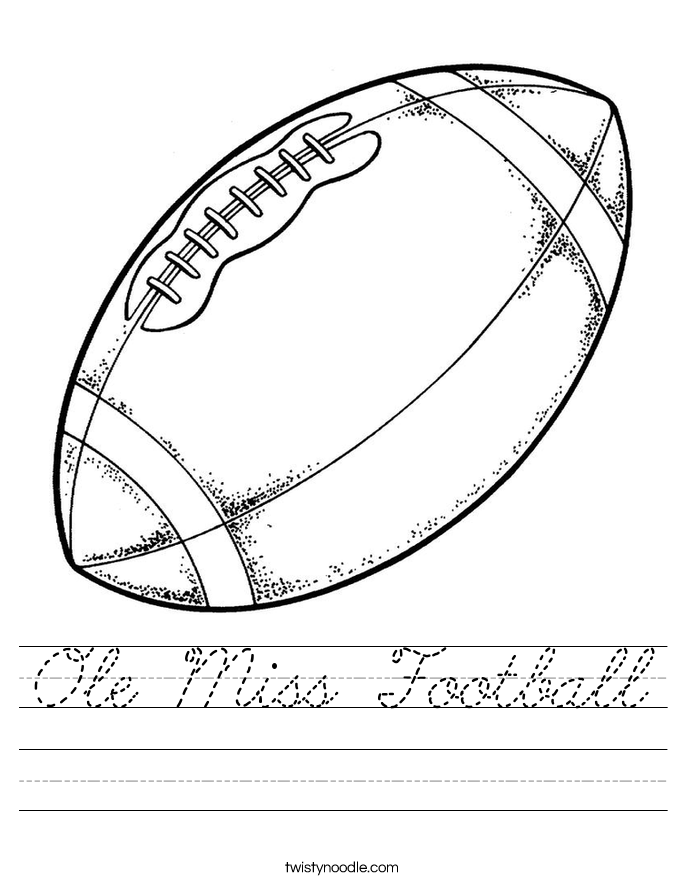 Ole Miss Football Worksheet