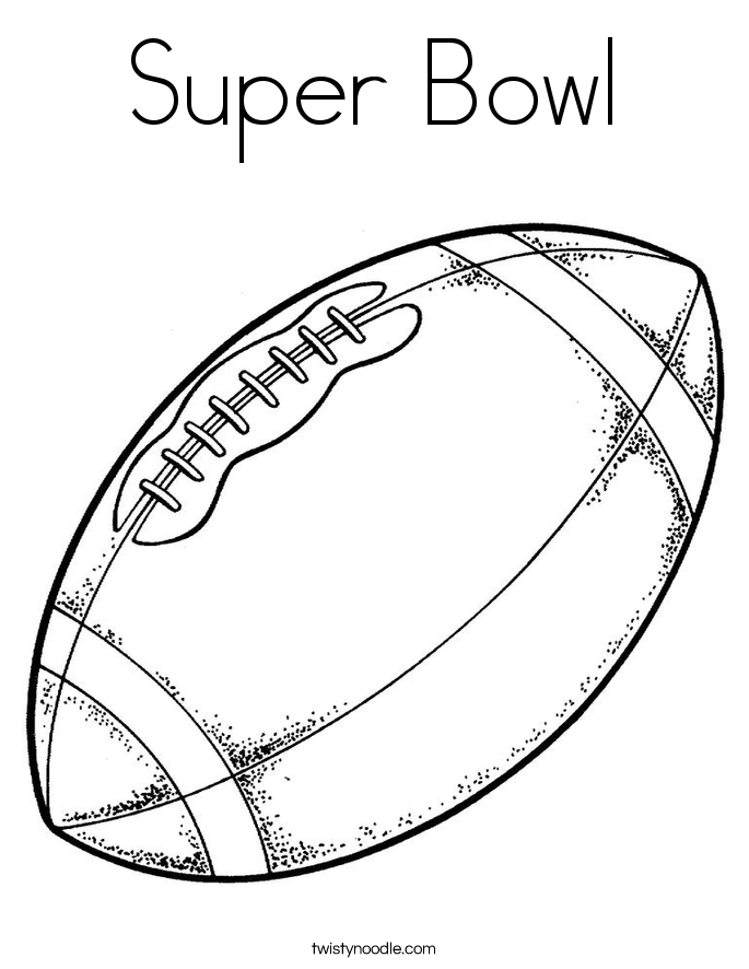 Super Bowl Coloring Page - Twisty Noodle