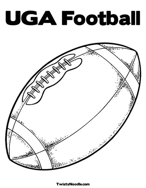 Football Coloring Page - klejonka