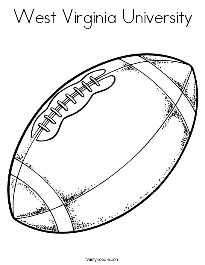 West Virginia University Coloring Page