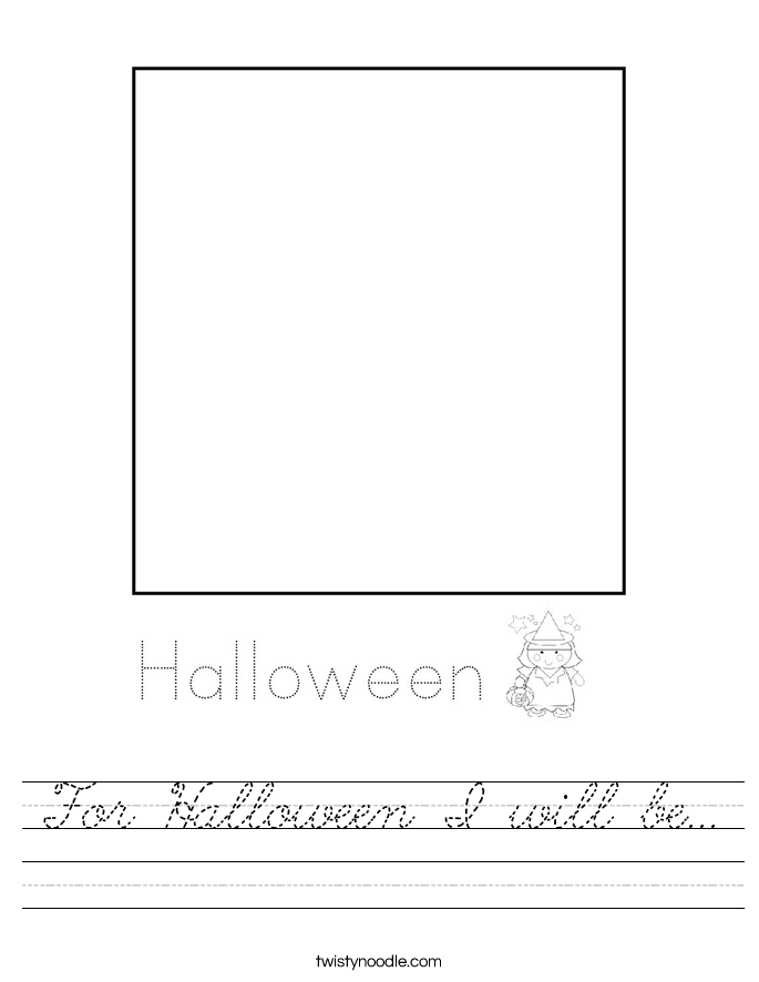 For Halloween I will be... Worksheet