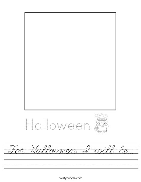 For Halloween I will be ... Worksheet