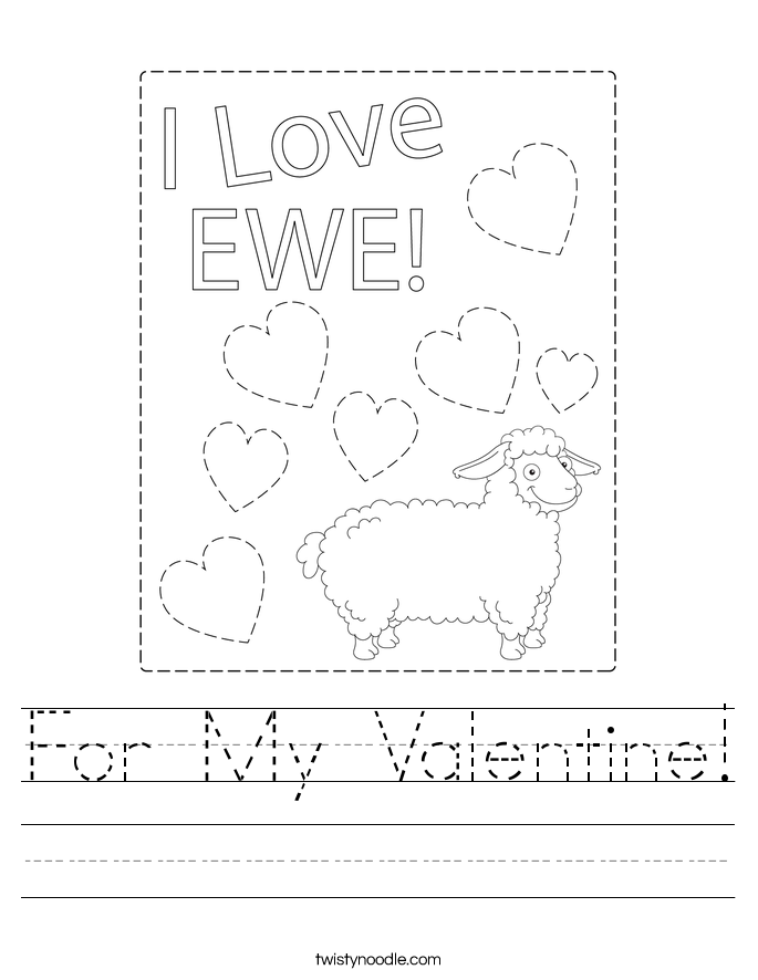 For My Valentine! Worksheet