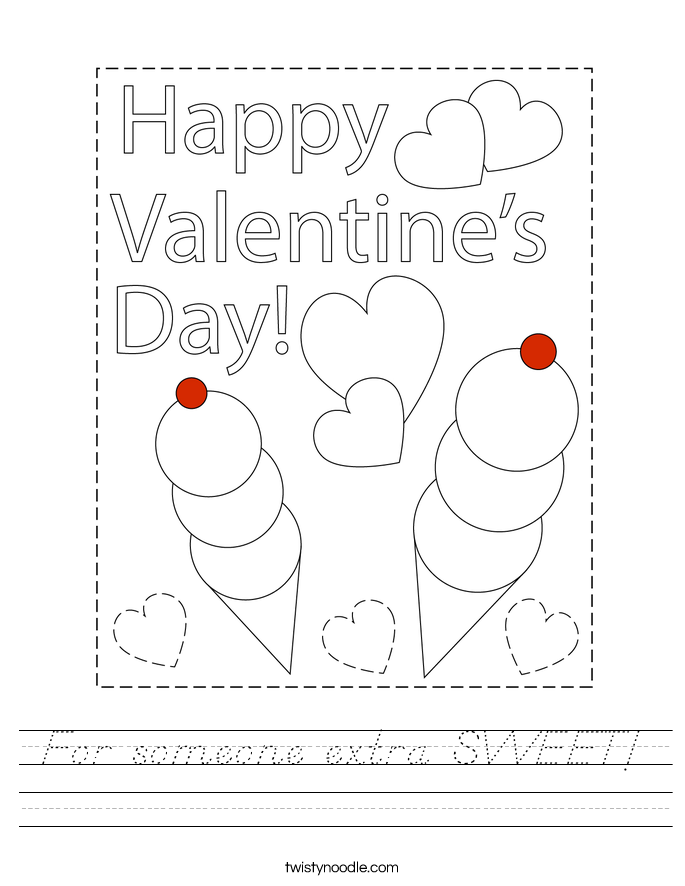 For someone extra SWEET! Worksheet