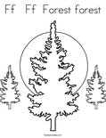 Ff   Ff  Forest forest Coloring Page