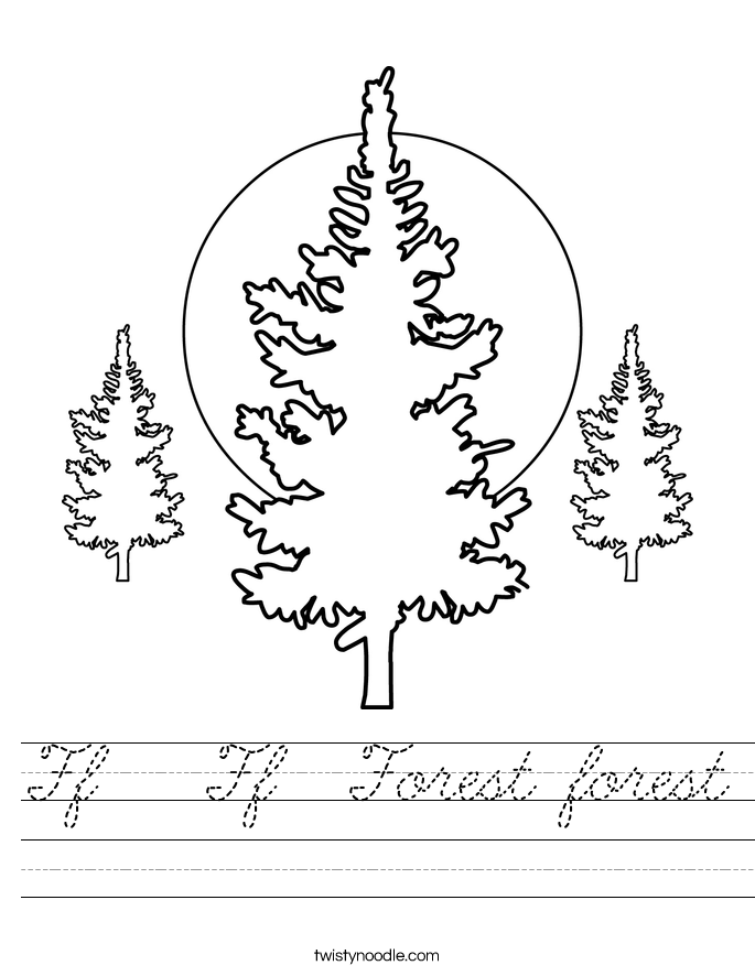 Ff   Ff  Forest forest Worksheet