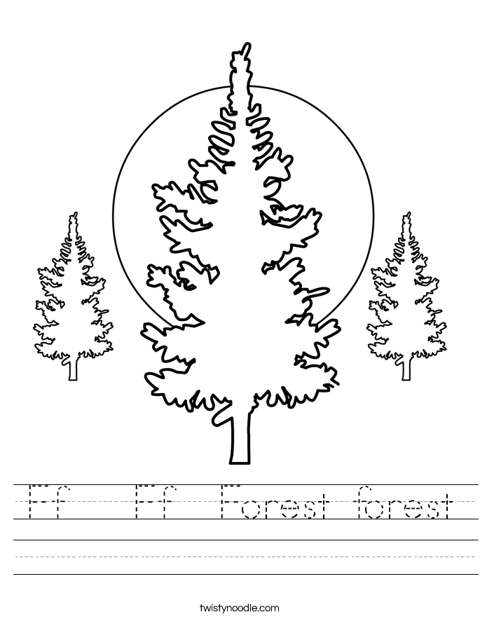Ff   Ff  Forest forest Worksheet