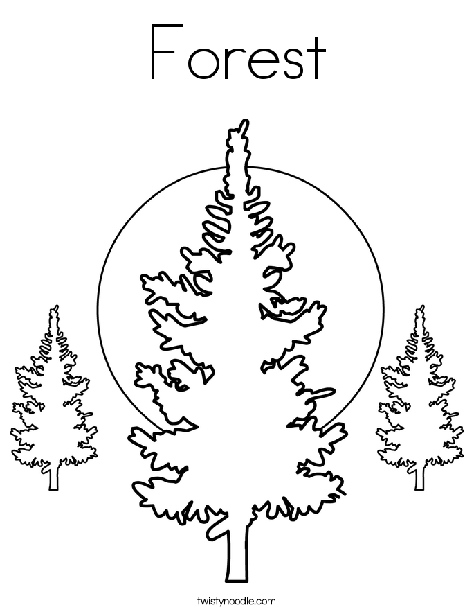 forest of trees coloring pages - photo#5