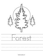 Forest Handwriting Sheet