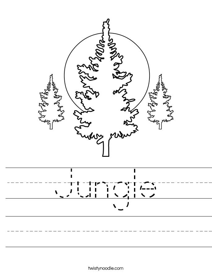 Jungle Worksheet