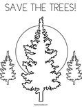 SAVE THE TREES! Coloring Page