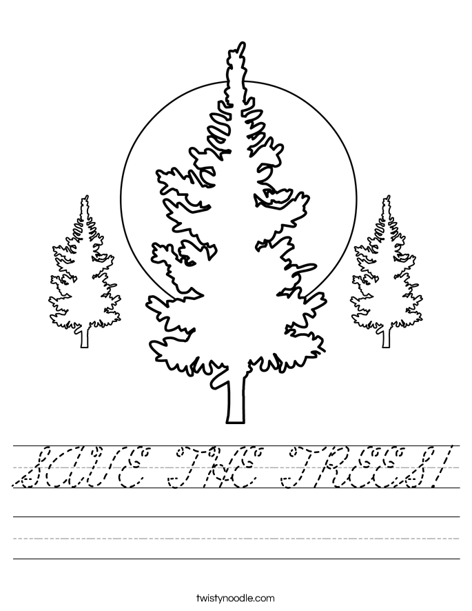 SAVE THE TREES! Worksheet
