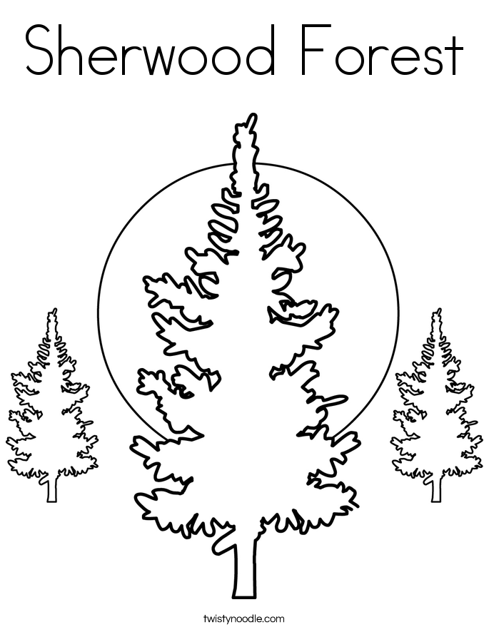 Sherwood Forest Coloring Page